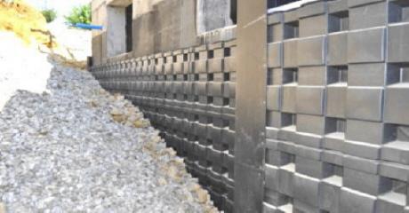 Eingebauter DEFENDER Schutz für Kellerwände
