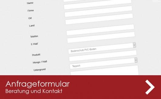 Kontaktseite bei Abdeck-Boden.de mit Formular